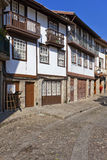 Guimaraes, Portugal. Medieval street of the Historical Center of Guimaraes. Royalty Free Stock Images