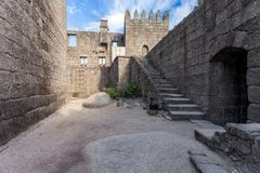 Guimaraes, Portugal - Guimaraes Castle interior, the most famous castle in Portugal Royalty Free Stock Photos