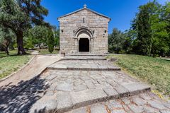 Guimaraes, Portugal. Romanesque Capela de Sao Miguel Chapel, stock image