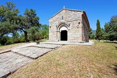 guimaraes portugal Romanska Capela de Sao Miguel Chapel Fotografering för Bildbyråer