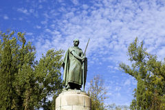 Guimaraes. Statue of the portuguese first king, in Guimaraes, Portugal royalty free stock photo