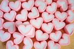 Guimauve de coeur pour le fond de valentines Photographie stock libre de droits
