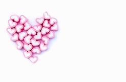 Guimauve rose d'amour de forme d'amoureux pour le concept d'amour Images libres de droits