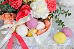 Guimauves colorées, macaron Photo libre de droits