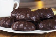 Guimauves en chocolat Photos libres de droits