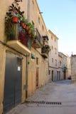Guimera medeltida by, Lleida Arkivbild
