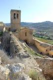 Guimera medeltida by, Lleida Royaltyfria Bilder