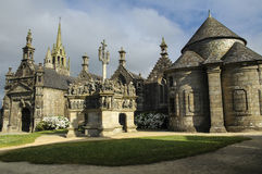 Guimiliau (Brittany, France): medieval church Stock Images