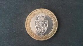 Guiné Reino Unido 2013 da moeda £2 fotos de stock royalty free