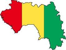 Guinée de carte Images stock
