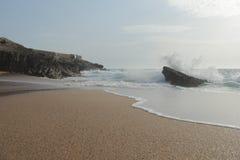 Guincho海滩 免版税图库摄影