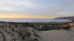 Guincho Beach at Sundown - Sand Dunes Landscape Royalty Free Stock Image