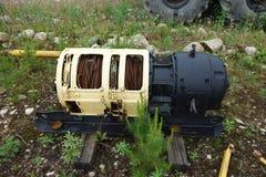 Guincho do cabo bonde usado minando em Canadá fotos de stock