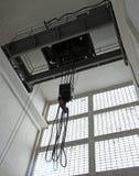 Guindaste aéreo com os guindastes poderosos para levantar cargas pesadas Imagem de Stock Royalty Free