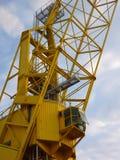 Guindaste amarelo Imagens de Stock Royalty Free