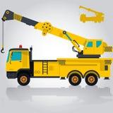 Guindaste amarelo pesado ilustração do vetor