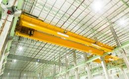 Guindaste aéreo da fábrica Foto de Stock