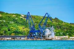 Guindaste bordejando nivelado do porto Imagem de Stock Royalty Free