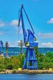 Guindaste bordejando nivelado do porto Imagens de Stock Royalty Free
