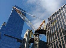 Guindaste, canteiro de obras, Manhattan, NYC, NY, EUA Imagem de Stock Royalty Free