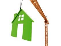 Guindaste com o conceito da casa rendido ilustração do vetor