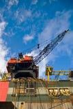 Guindaste da plataforma petrolífera imagem de stock royalty free