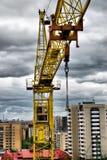 Guindaste de construção Fotografia de Stock Royalty Free