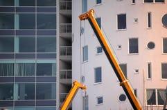 Guindaste de construção amarelo Imagem de Stock