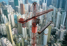 Guindaste de construção de acima Fotografia de Stock