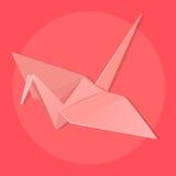 Guindaste de Origami ilustração do vetor