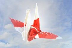 Guindaste de Origami Foto de Stock Royalty Free