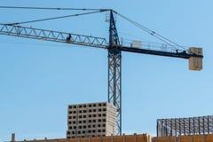Guindaste de torre da construção fotos de stock royalty free