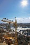 Guindaste de torre do arranha-céus Fotografia de Stock