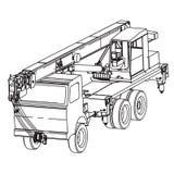 Guindaste do caminhão ilustração royalty free