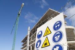 Guindaste do sinal da construção Imagem de Stock Royalty Free