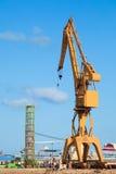 Guindaste dos dockyards Fotografia de Stock Royalty Free
