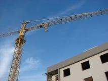 Guindaste e construção Foto de Stock