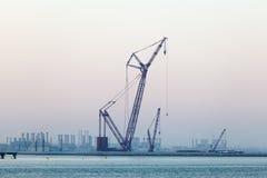 Guindaste em Dubai Foto de Stock Royalty Free