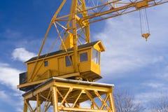 Guindaste giratório amarelo Fotos de Stock Royalty Free