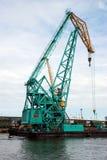 Guindaste no porto Foto de Stock Royalty Free