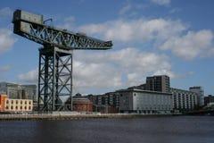 Guindaste, rio Clyde, Glasgow Fotografia de Stock