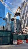 Guindaste, terreno de construção, Midtown, Manhattan, NYC, NY, EUA Fotos de Stock Royalty Free
