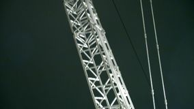 Guindaste torre-montado close-up Liebherr vídeos de arquivo