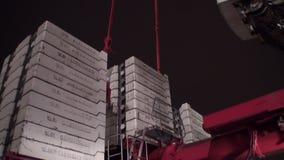 Guindaste torre-montado close-up Liebherr filme