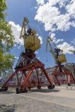 Guindastes coloridos de Puerto Madero Buenos Aires Fotos de Stock Royalty Free