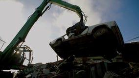 Guindastes com os carros moventes do prendedor hidráulico para reciclar vídeos de arquivo