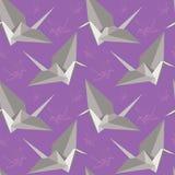 Guindastes da paz de Origami Teste padrão sem emenda Fotografia de Stock Royalty Free