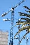 Guindastes de construção Fotografia de Stock Royalty Free