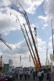 Guindastes de construção Fotografia de Stock