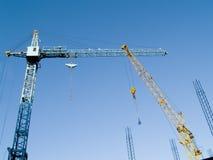 Guindastes de construção Fotos de Stock Royalty Free